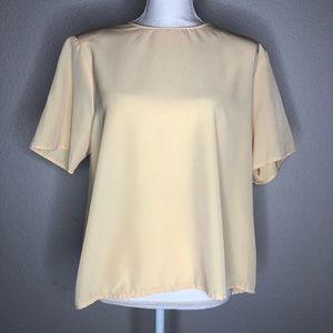 Flowy Baby Yellow Blouse